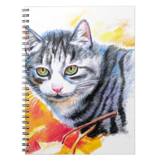 Grey Striped Cat Notebook
