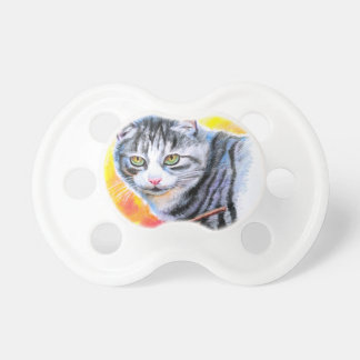 Grey Striped Cat Pacifier