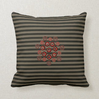 Grey striped square accent pillow! throw pillow