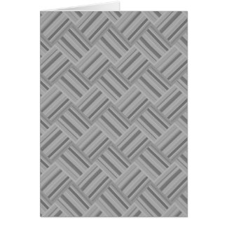 Grey stripes diagonal weave pattern card