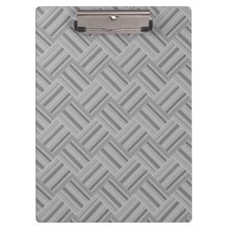 Grey stripes diagonal weave pattern clipboard