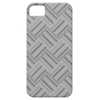 Grey stripes diagonal weave pattern iPhone 5 cases