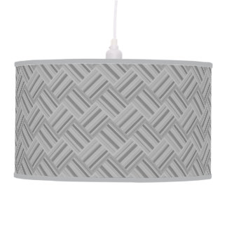 Grey stripes diagonal weave pattern pendant lamp