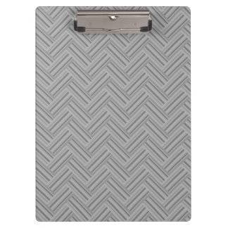 Grey stripes double weave pattern clipboard