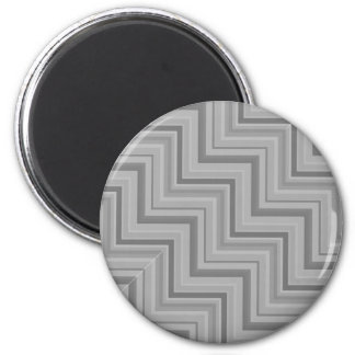 Grey stripes stairs pattern 2 inch round magnet
