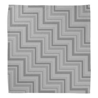 Grey stripes stairs pattern bandana