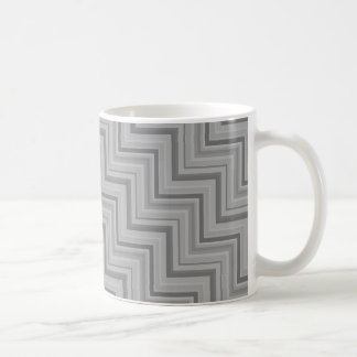 Grey stripes stairs pattern coffee mug