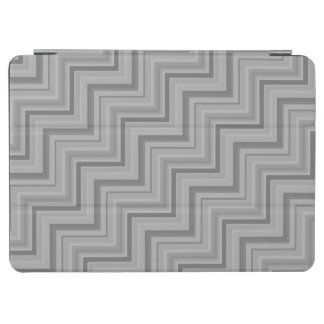Grey stripes stairs pattern iPad air cover