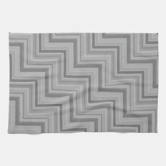 Grey stripes stairs pattern kitchen towel