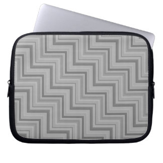 Grey stripes stairs pattern laptop sleeve
