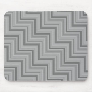 Grey stripes stairs pattern mouse pad