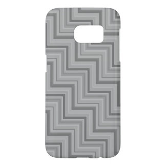 Grey stripes stairs pattern samsung galaxy s7 case