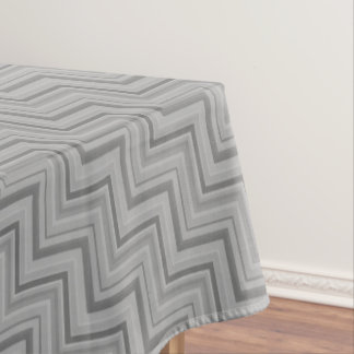 Grey stripes stairs pattern tablecloth