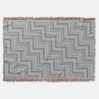 Grey stripes stairs pattern throw