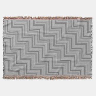 Grey stripes stairs pattern throw blanket