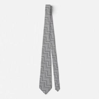 Grey stripes stairs pattern tie