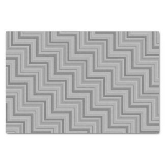 Grey stripes stairs pattern tissue paper
