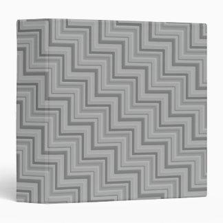 Grey stripes stairs pattern vinyl binders