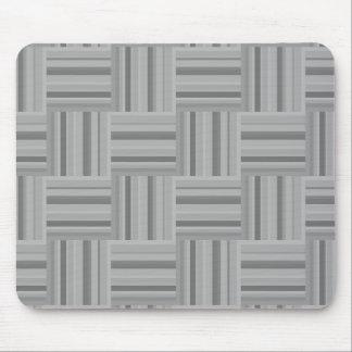 Grey stripes weave pattern mouse pad