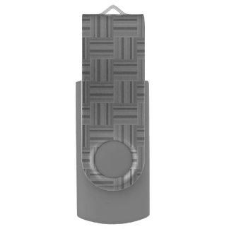 Grey stripes weave pattern USB flash drive