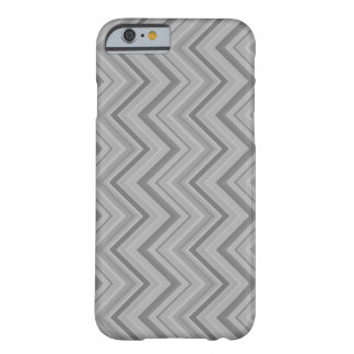 Grey stripes zigzag pattern barely there iPhone 6 case