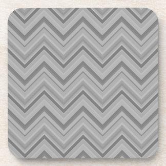 Grey stripes zigzag pattern coaster