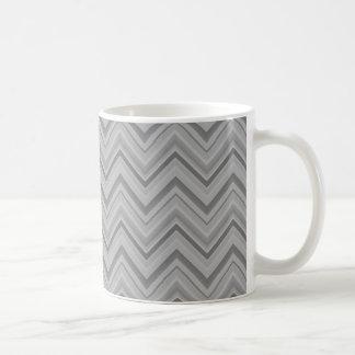 Grey stripes zigzag pattern coffee mug
