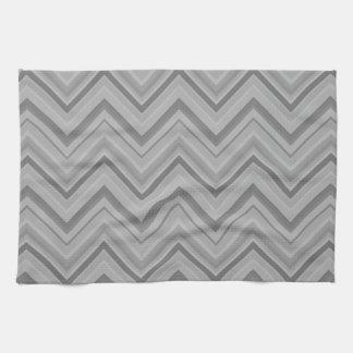 Grey stripes zigzag pattern kitchen towel