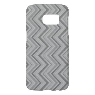 Grey stripes zigzag pattern samsung galaxy s7 case