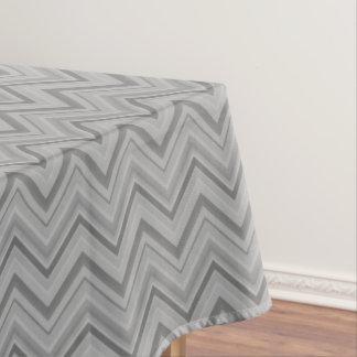 Grey stripes zigzag pattern tablecloth