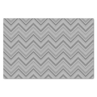 Grey stripes zigzag pattern tissue paper