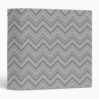 Grey stripes zigzag pattern vinyl binder