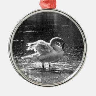 Grey Swan Holiday Ornament