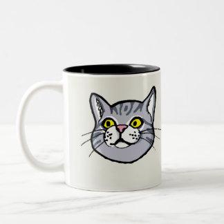 Grey Tabby Cat Drawing Mug
