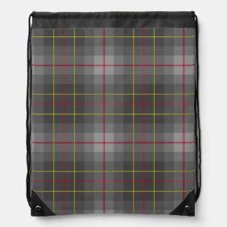 Grey Tartan Drawstring Backpack