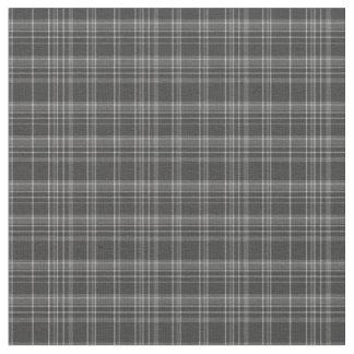 Grey Tartan Rustic Pattern Fabric