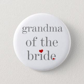 Grey Text Grandma of Bride 2 Inch Round Button