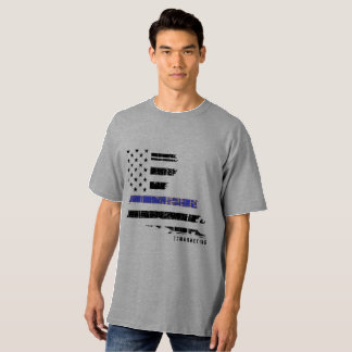 grey thin blue line louisiana big & tall shirt