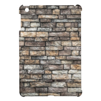 Grey tiles brick wall iPad mini cases