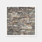 Grey tiles brick wall napkin