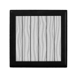 Grey Timber Background Gift Box