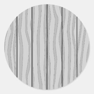 Grey Timber Background Round Sticker