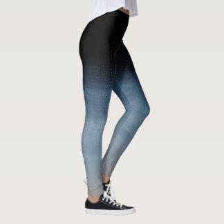 Grey to Dark Blue Ombre Leggings