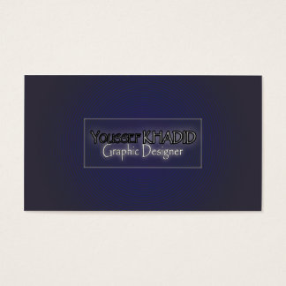 Grey to purple optic illusion business card