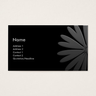 Grey To Silver Business Card