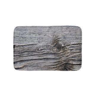 Grey-Toned Barn Wood-Board effect Photo Sample 2 Bathroom Mat