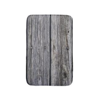 Grey-Toned Barn Wood-Board effect Photo Sample Bath Mat
