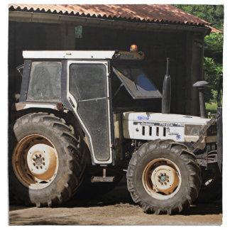 Grey tractor, El Camino, Spain Napkin