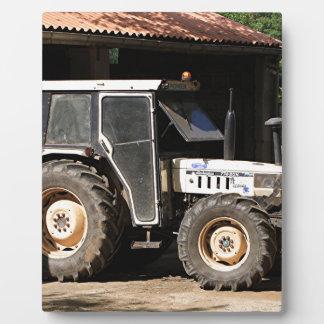 Grey tractor, El Camino, Spain Plaque
