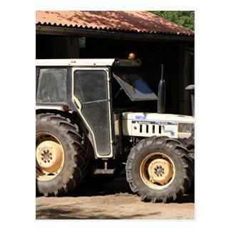 Grey tractor, El Camino, Spain Postcard